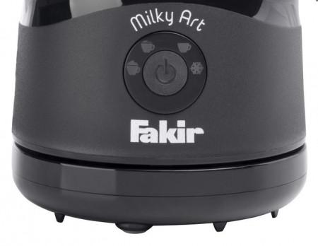 Aparat pentru spumare si incalzire lapte Fakir Milky Art, 400 W, 4 texturi spuma, Baza rotativa 360°, Oprire automata, Negru