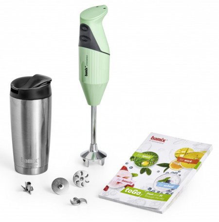 BAMIX ToGo mint - 180W, 4 lame, Bamix Thermo cup inox 500 ml