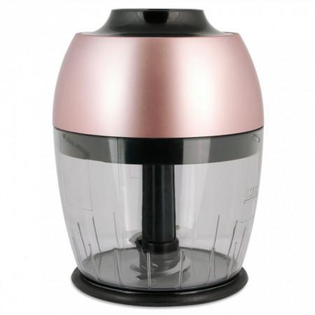 Mixer vertical Fakir Lucca Q, 1000 W, Tocator 1,5l, Teluri inox, Tija cu 4 lame inox, Vas 900 ml, Roz