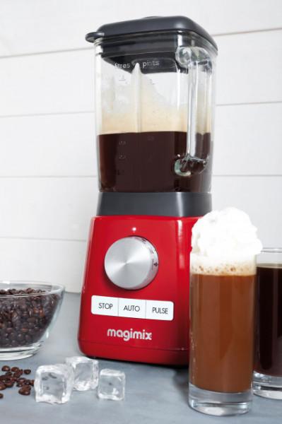 Power Blender MAGIMIX, 1300 W, 22,000 rpm, vas din sticlă 1,8 L, 3 ani garanție, roșu