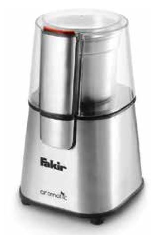 Rasnita de cafea Fakir Aromatic, 220W, 60g, cutit inox, functie Puls, Inox