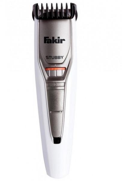 Aparat de tuns barba Fakir Stubby, Acumulatori, 40 min, Lame otel inox, 0.5 - 10 mm, 19 trepte, Alb/Crom