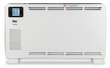 Convector electric de podea Fakir Prestige HK 2200, 2200 W, 3 trepte de putere, Afisal LCD+telecomanda, Termostat de siguranta, Termostat reglabil, Protectie anti-inghet, Ventilator turbo, Alb