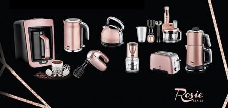 Mixer vertical Fakir Mr. Chef Quadro, 1000 W, Tocator 1,5l, Teluri inox, Tija cu 4 lame inox, Vas 900 ml, Roz