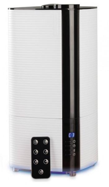 Umidificator ultrasunete Fakir Airwell, rezervor 4 l, 300 ml/h, Senzor de umiditate, Higrostat, Filtru ceramic, Afisaj LCD, Iluminare speciala, Telecomanda, Timer