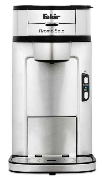 Cafetiera digitala Fakir Aroma Solo, 1300W, 410ml, Sistem One Cup, Oprire automata, Display LCD, Negru
