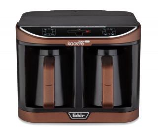 Aparat preparare cafea turceasca Fakir Kaave Dual Pro, 1470 W, Control digital, 2.3L, Luminasense Technology, Maro