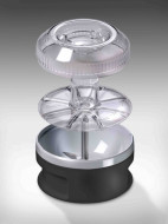 BAMIX BBQ 200W, 4 lame, Procesor cu powderdisc, Vas 600ml, Vas 400ml, Sort Bamix BBQ, Stand DeLuxe, Negru