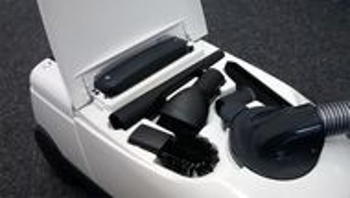 Aspirator cu sac Fakir S250, Sac 4.5 l, Tub telescopic, 800 W, 73dB, Filtru HEPA, Perie parchet, Fabr. in Germania, Alb/Antracit