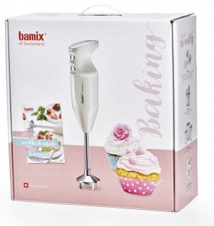 BAMIX Baking crema - 200W, 4 lame, SliceSy, Procesor, Vas 1000ml, Vas 600ml, Vas 400ml, Stand Swissline