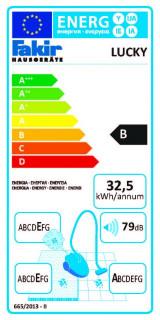 Aspirator multifunctional cu fir Fakir Lucky 2 in 1 vertical si de mana, 800 W, 1 l, Bej nisip, PRODUS RESIGILAT
