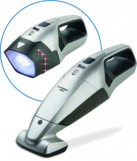 Aspirator de mana Fakir, Li-Ion 11,1V, lampa LED cu semnal avarie, perie electrica, 25 min autonomie, adaptor auto 12V, filtru lavabil, geanta speciala