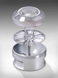 BAMIX Baking 200W, 4 lame, SliceSy, Procesor, Motor profesional, Vas 1000ml, Vas 600ml, Vas 400ml, Stand Swissline, Crema