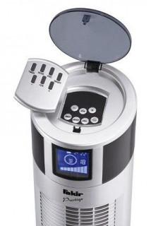 Ventilator Turn Fakir Prestige TVL 30, 8 trepte viteza, Ionizator, 3 moduri de functionare, 40W, Functie oscilatie, Timer, Telecomanda, Argintiu