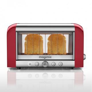 Prajitor transparent MAGIMIX Toaster Vision - rosu