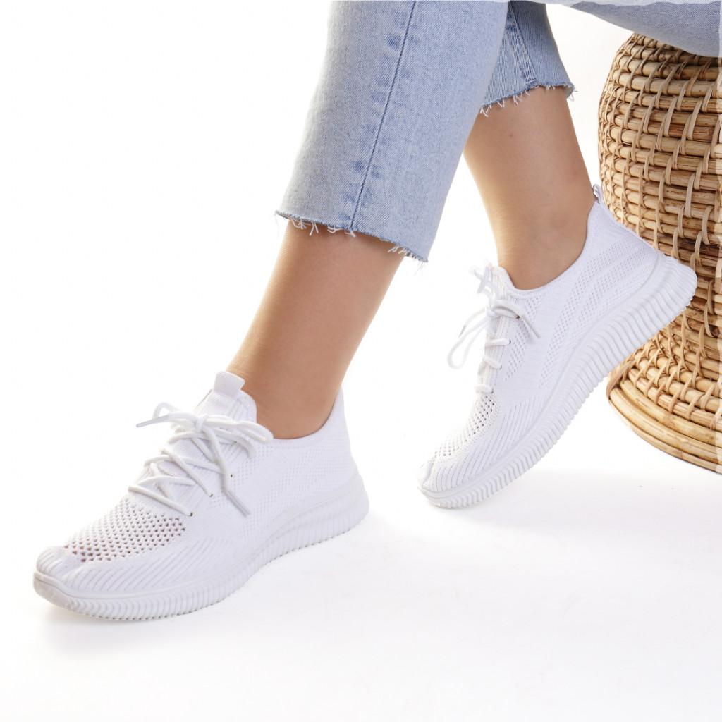 Adidasi material textil albi Lesia