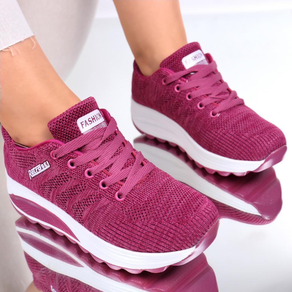 Adidasi material textil roz inchis Camy