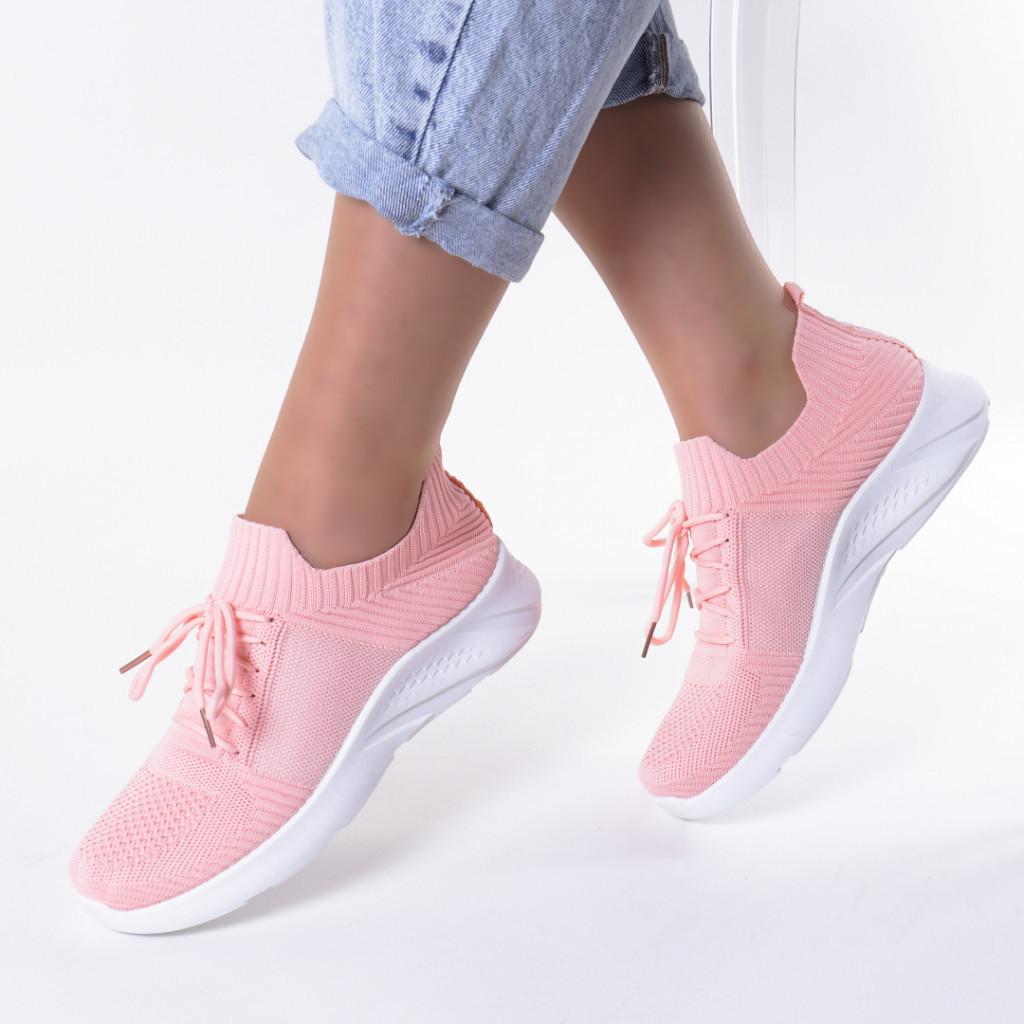 Adidasi roz material textil Sona