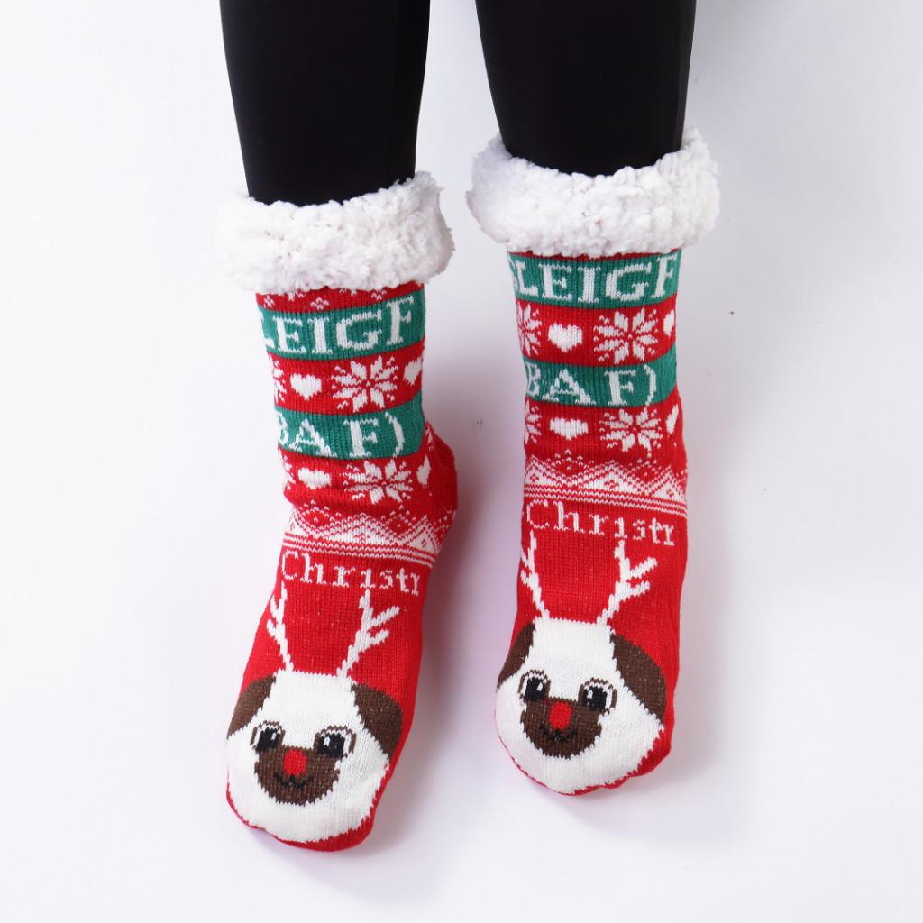 Ciorapi imblaniti si caldurosi cu ren alb Mirina