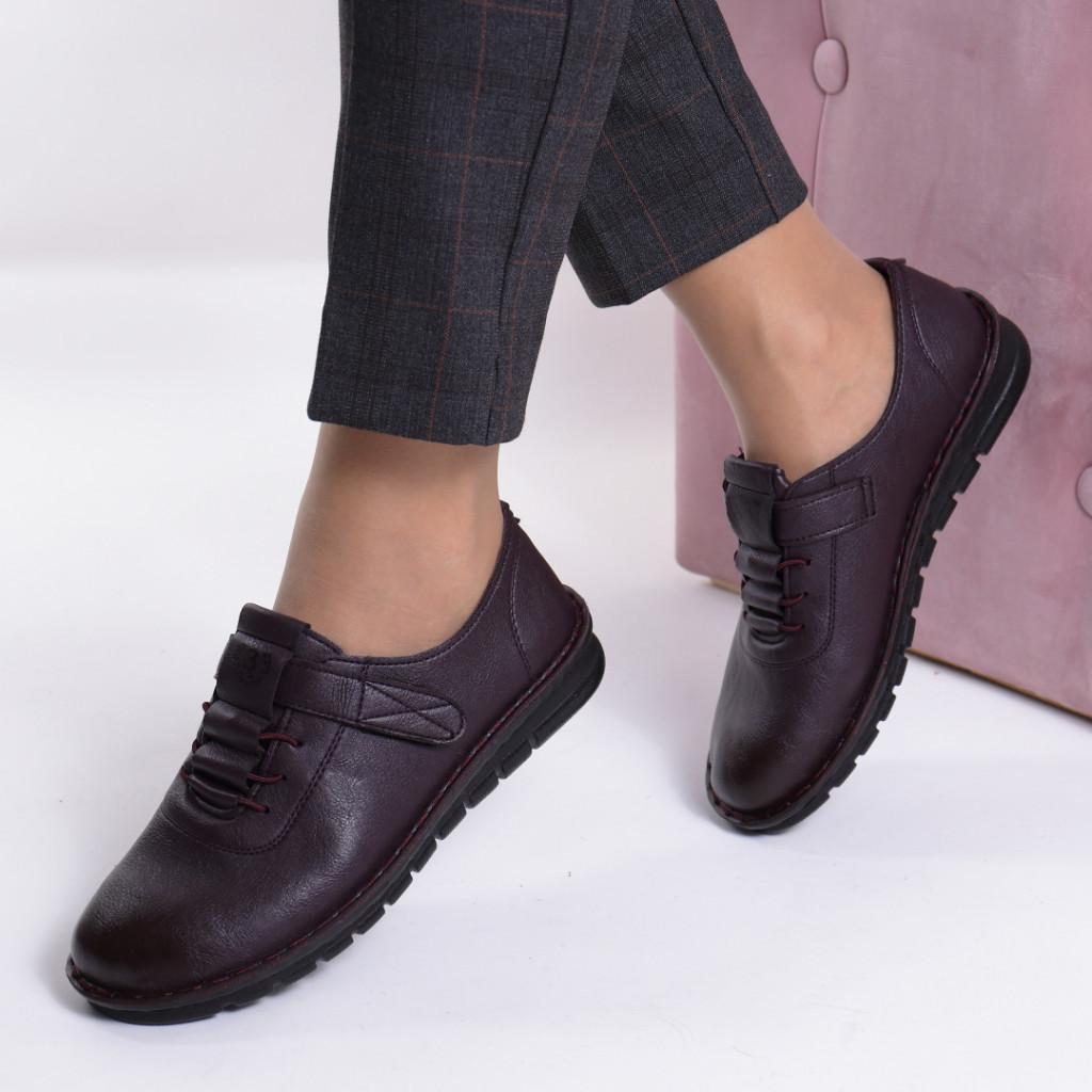 Pantofi mov piele ecologica Diomia