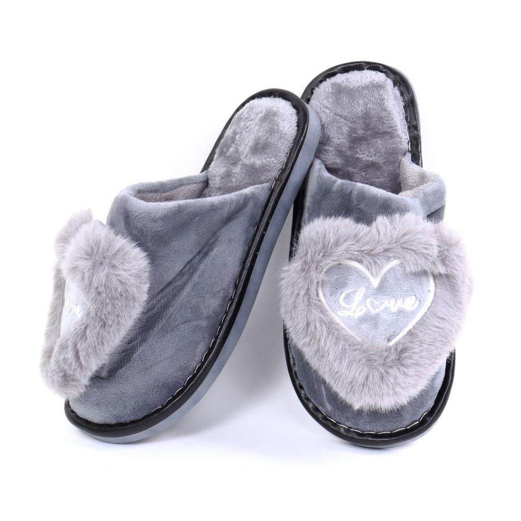 Papuci cu inima gri Mista