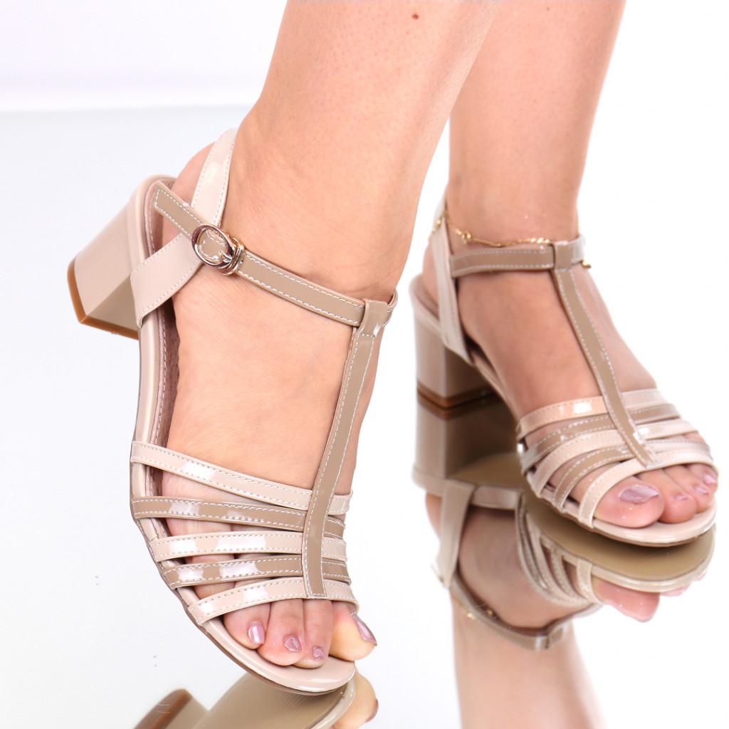 Sandale piele ecologica bej Melita