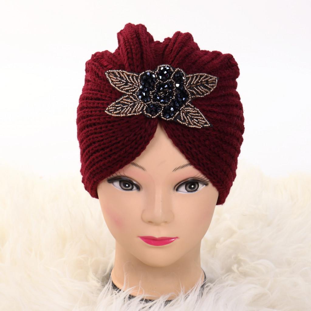 Turban cu model bordo Deli