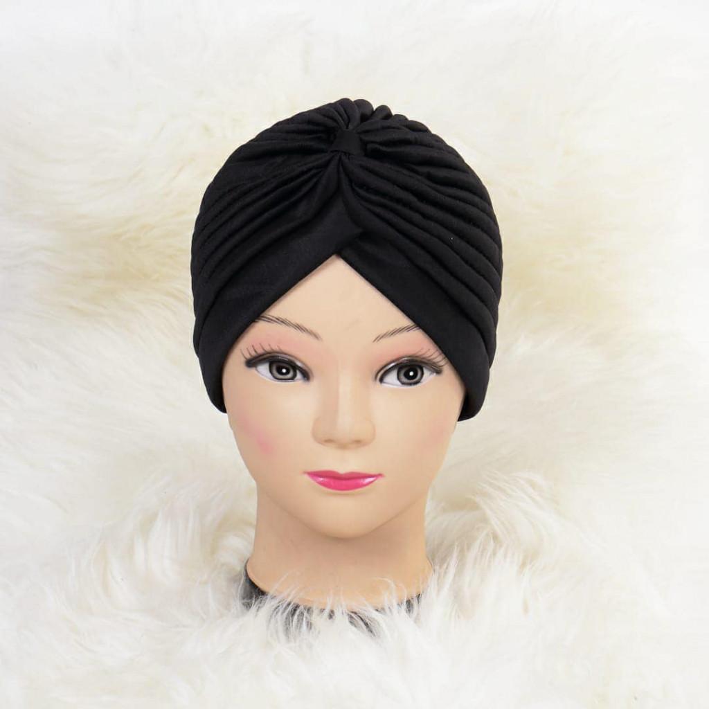 Turban simplu negru Zizi