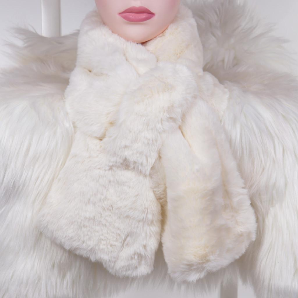 Fular alb cu blanita Lona