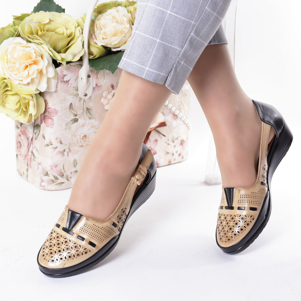 Pantofi bleumarin piele ecologica Filiza