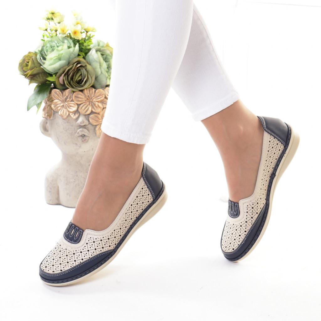 Pantofi bleumarin piele ecologica Notera