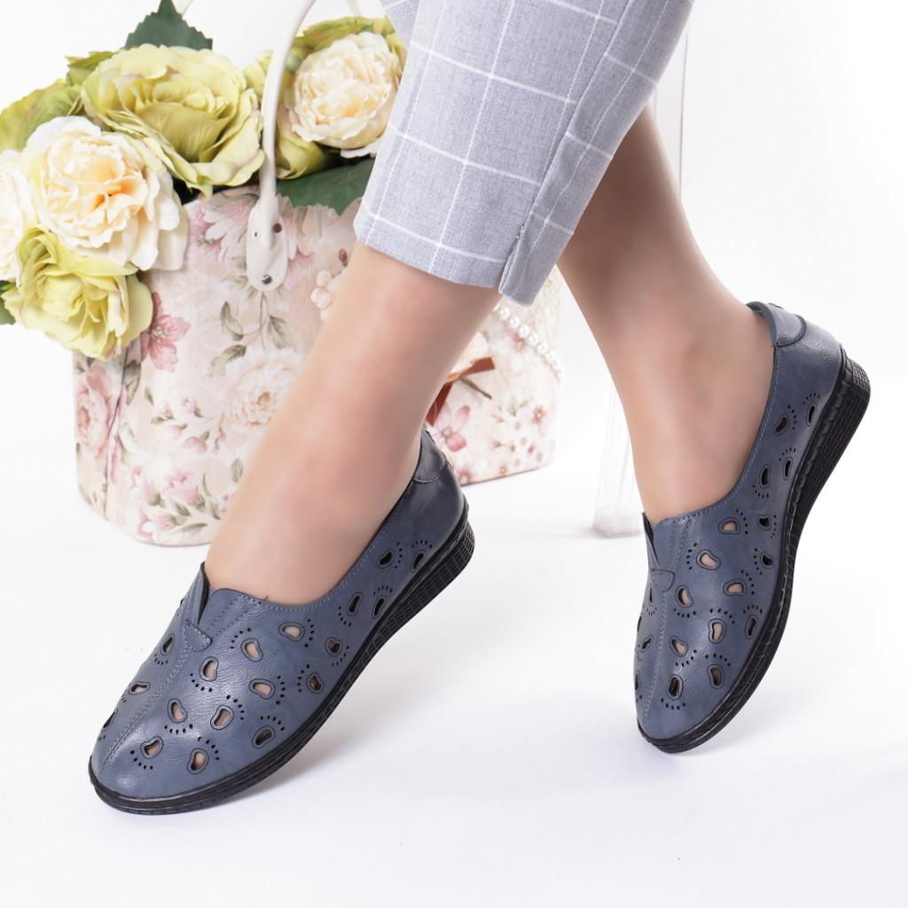 Pantofi bleumarin piele ecologica Zelma