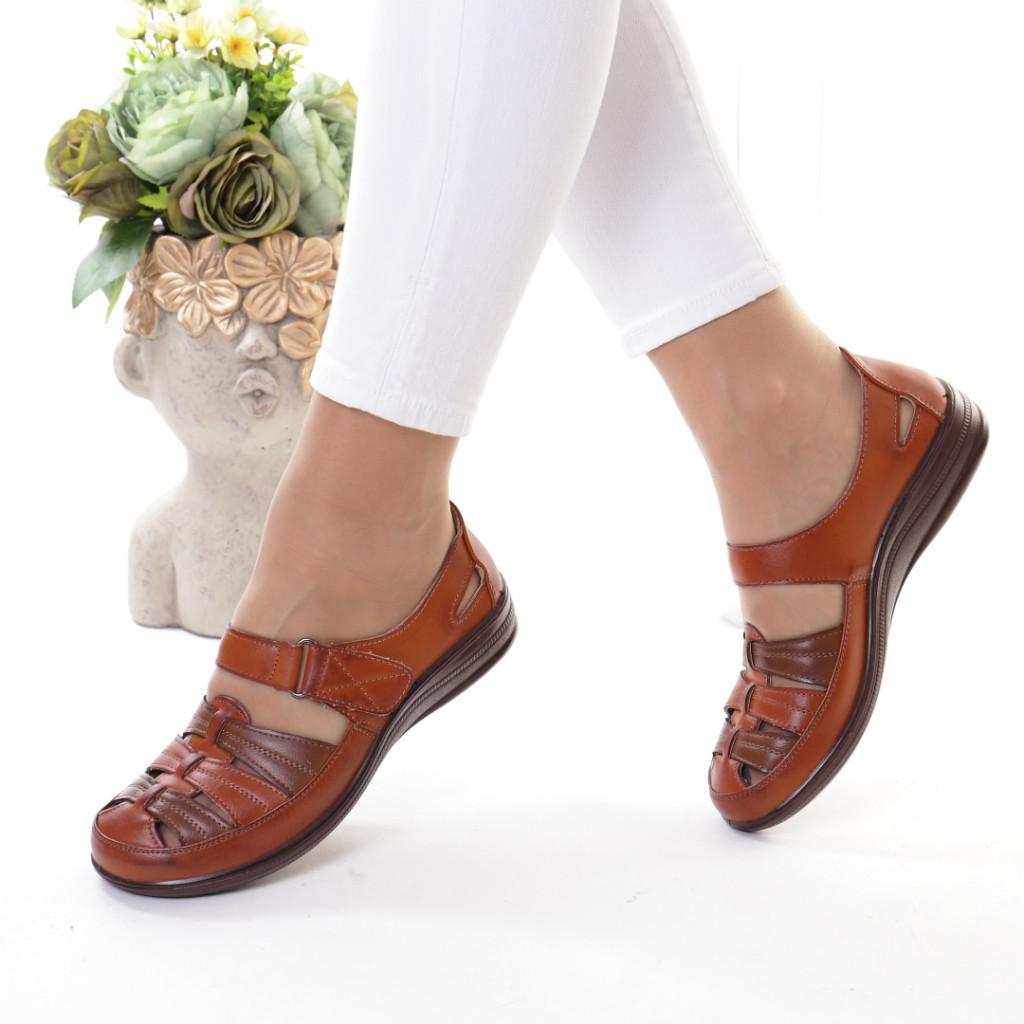 Pantofi maro piele ecologica Florena