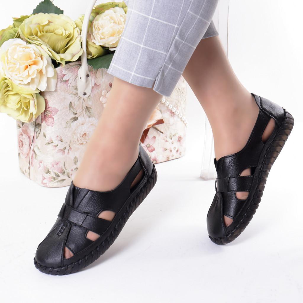 Pantofi negri piele ecologica Damla