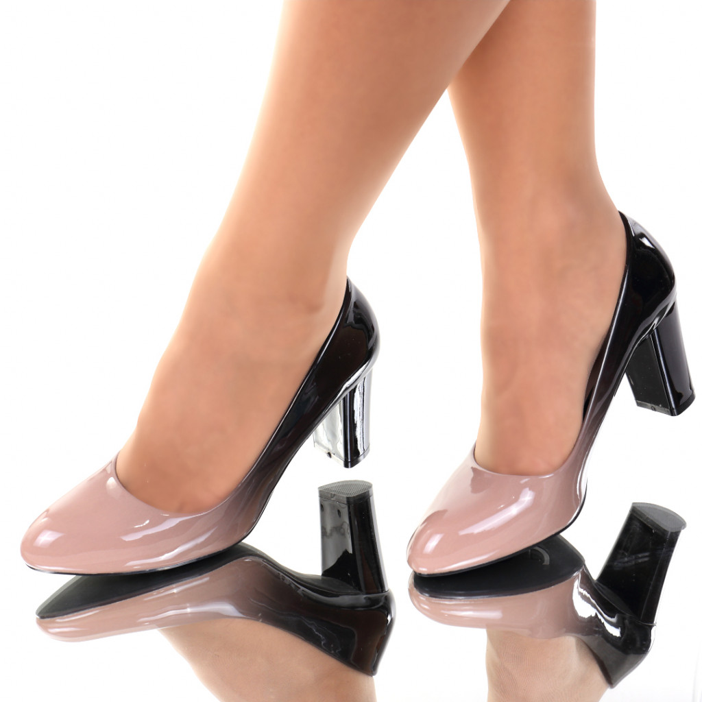 Pantofi piele ecologica bej Carla