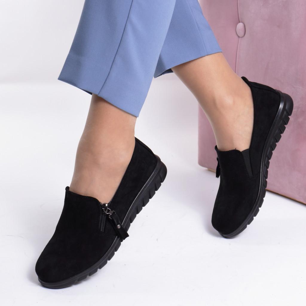 Pantofi piele ecologica intoarsa Irema
