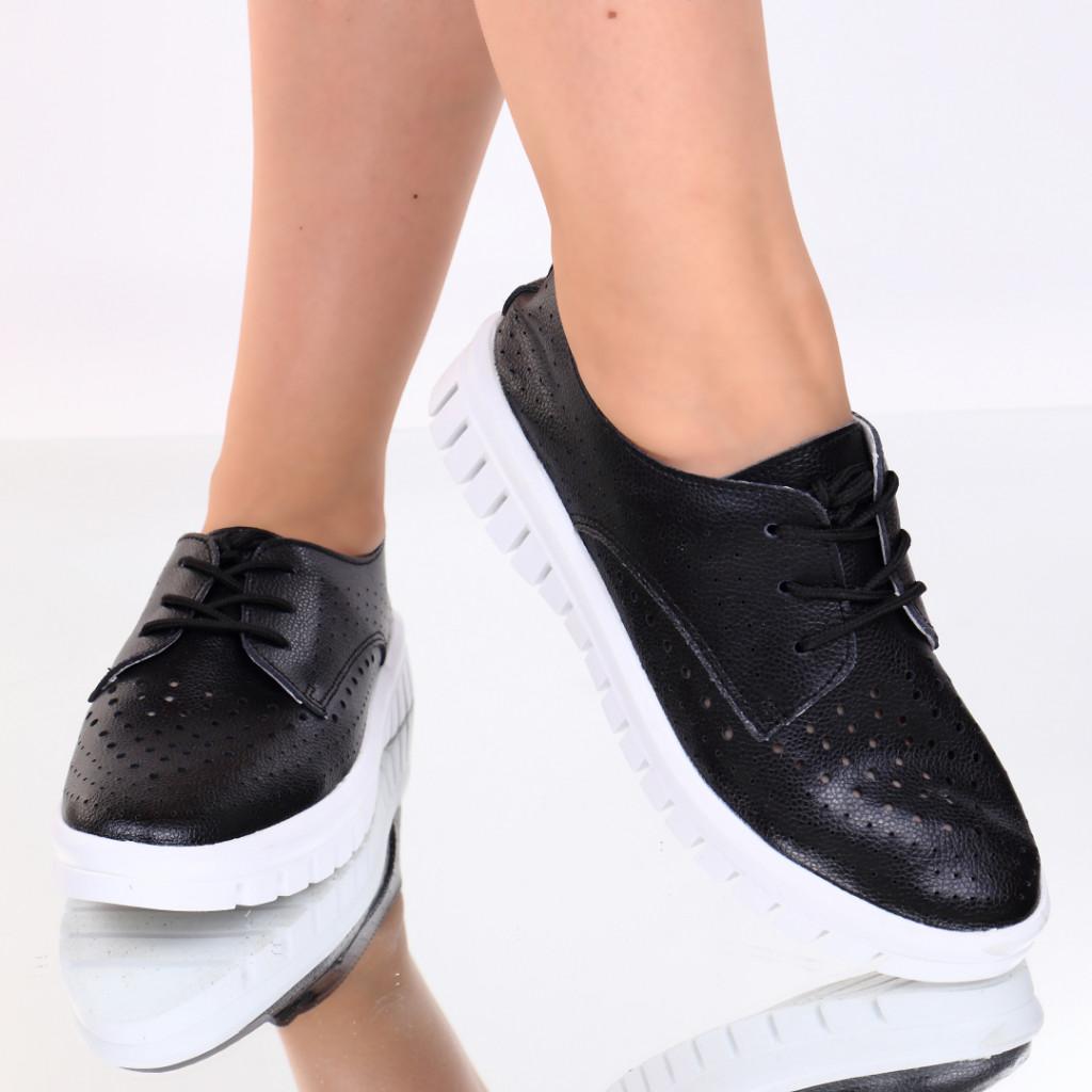 Pantofi piele naturala negri Nevada