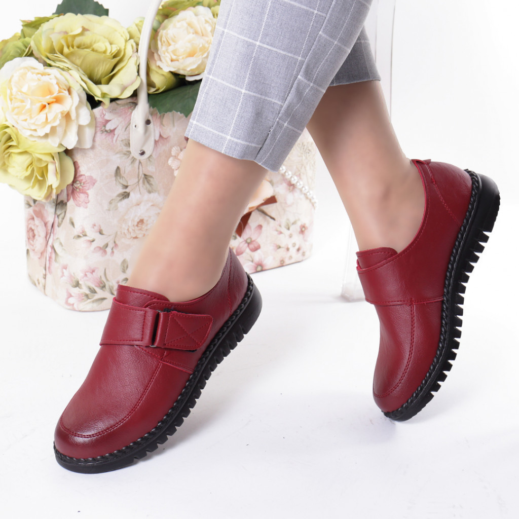 Pantofi rosi piele ecologica Rezana