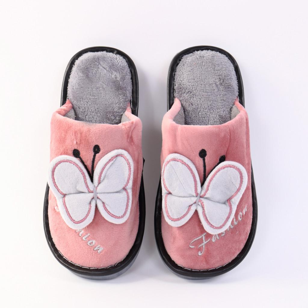 Papuci cu fluture roz cu gri Enia
