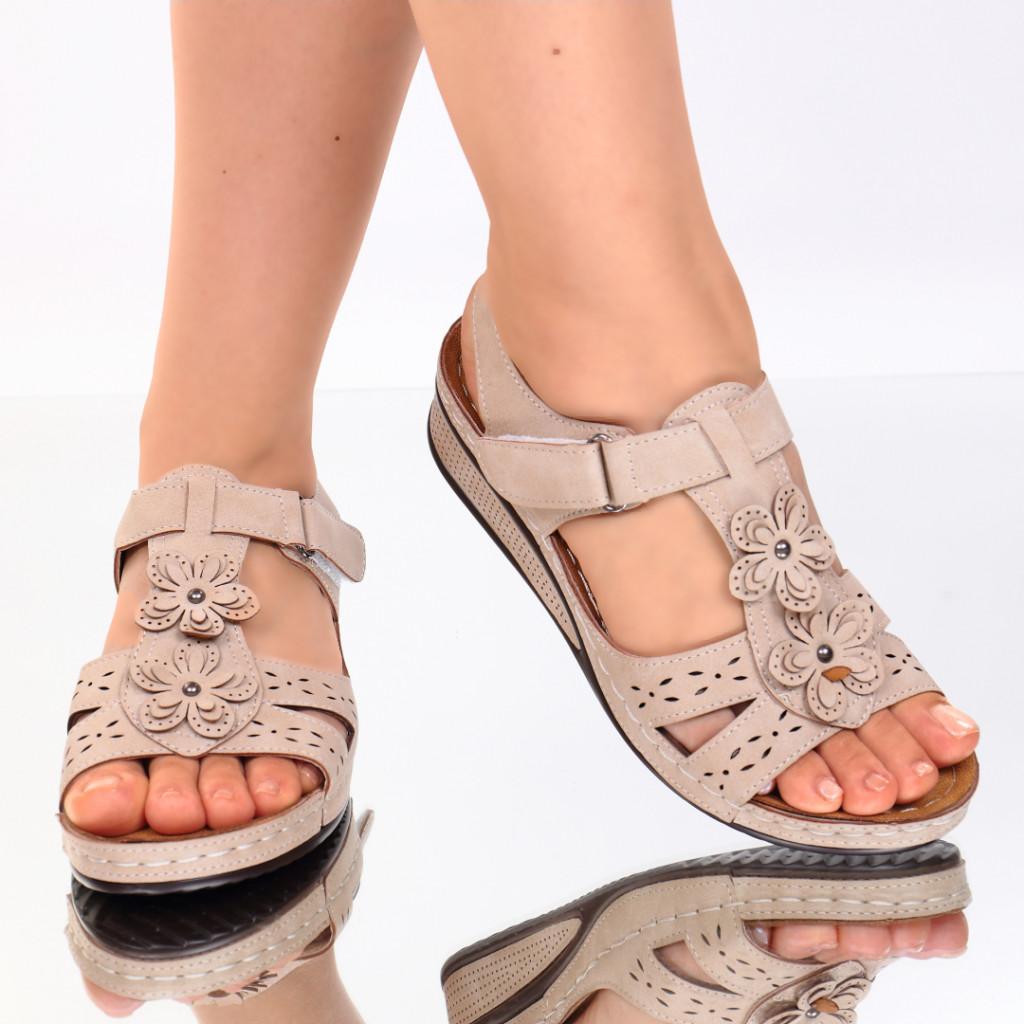 Sandale bej piele ecologica Lala