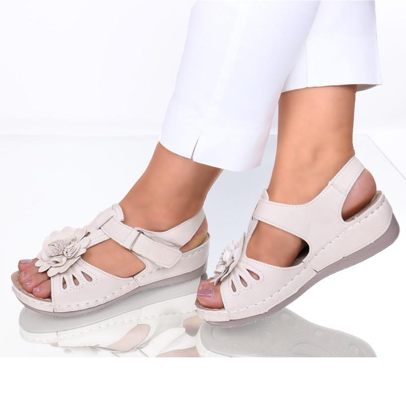 Sandale piele ecologica bej Floransa