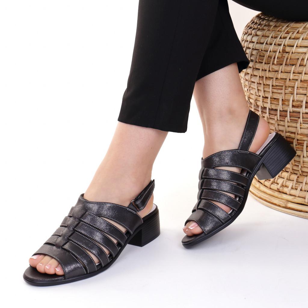 Sandale piele ecologica negre Blandina