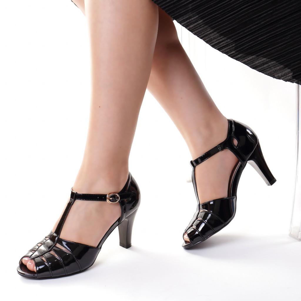 Sandale piele ecologica negre Isolda