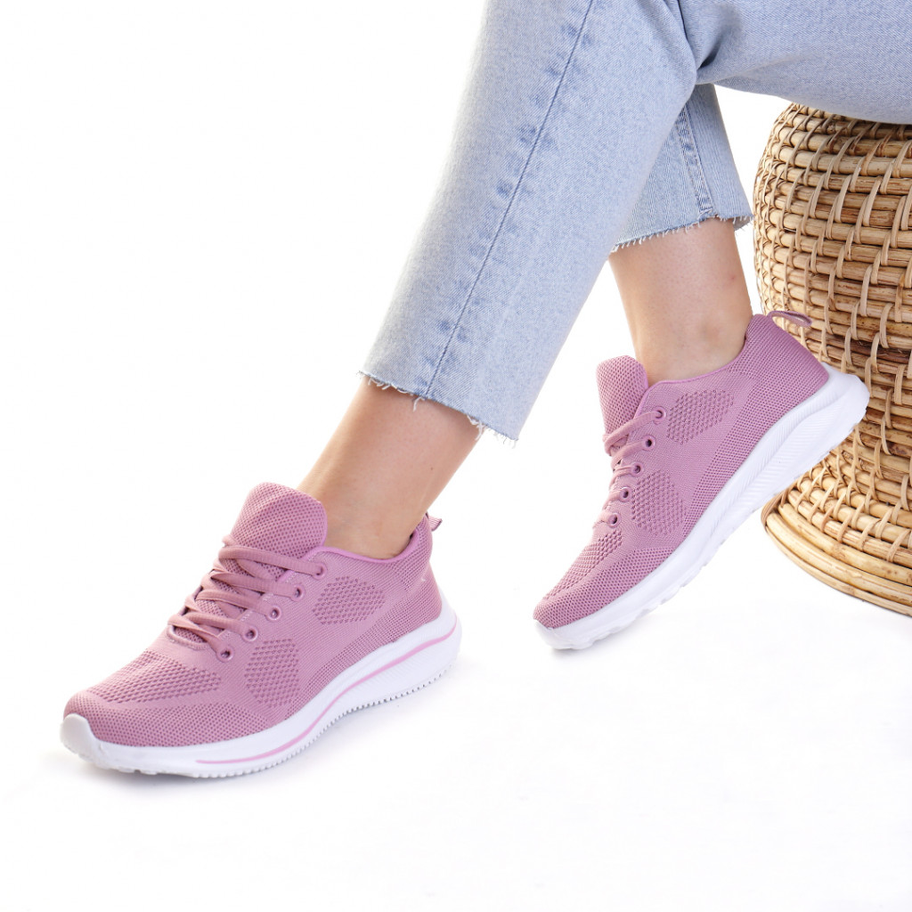 Adidasi material textil lila Katenka