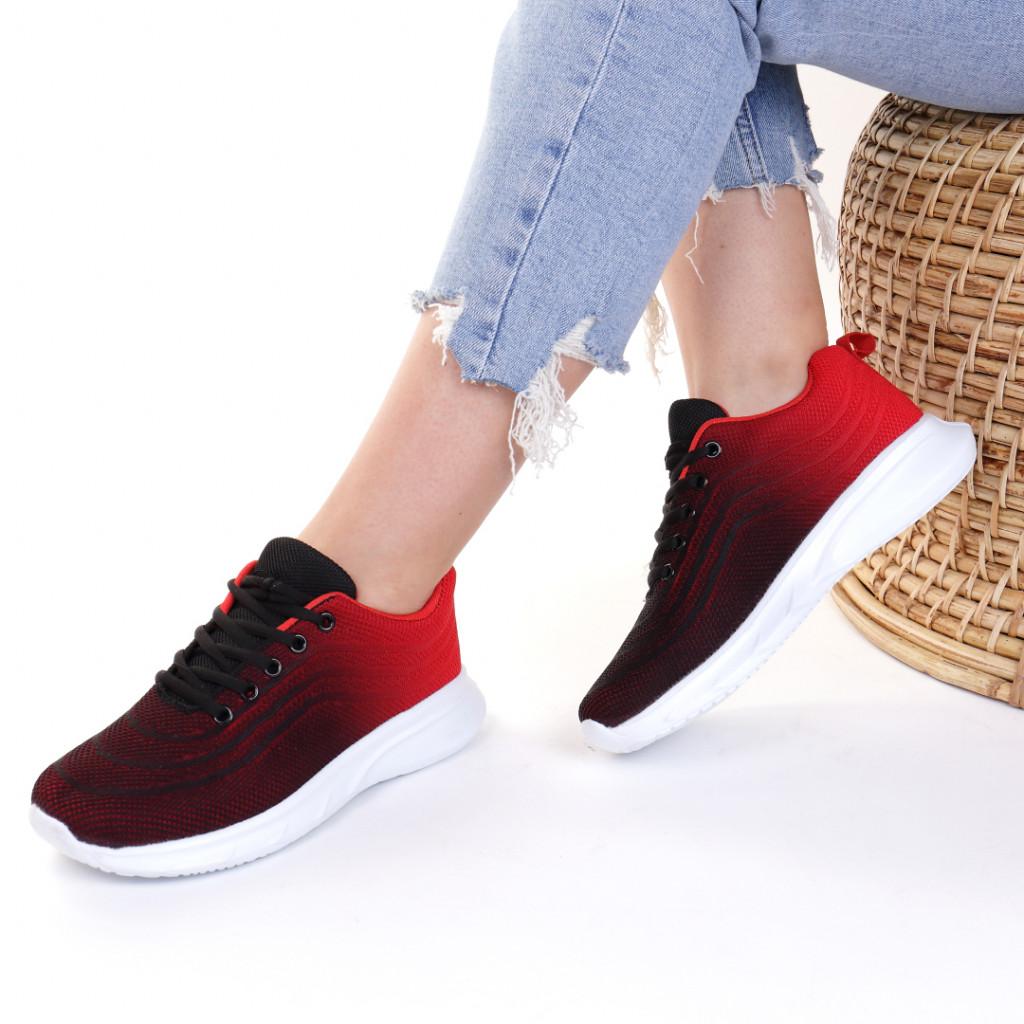 Adidasi material textil rosii Kira