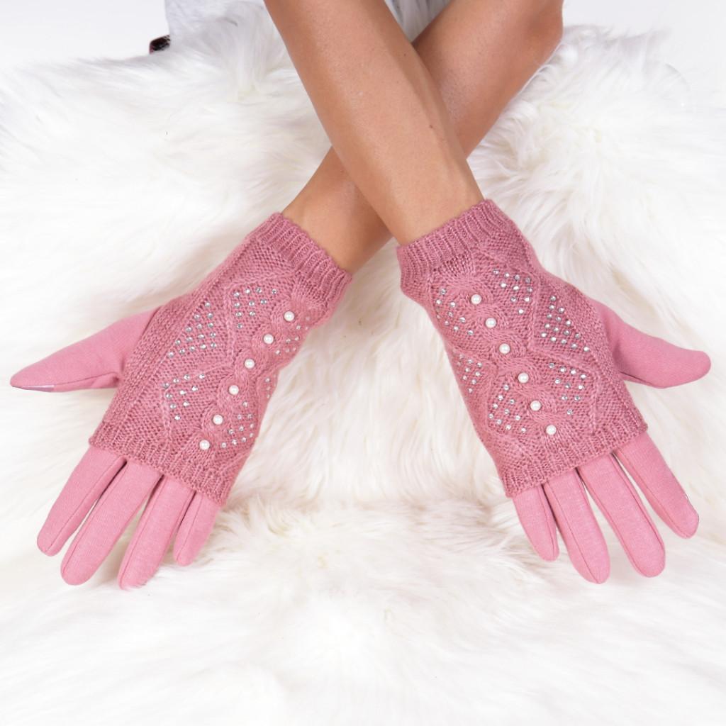 Manusi roz cu perle Isabela