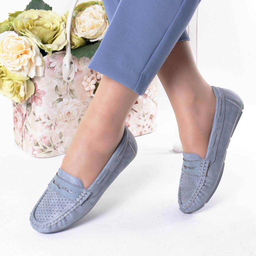 Pantofi blue piele ecologica Aliona