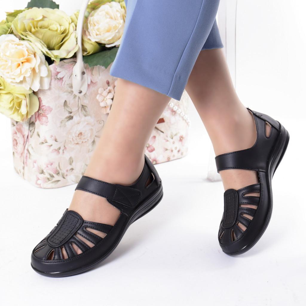 Pantofi negri piele ecologica Nutica