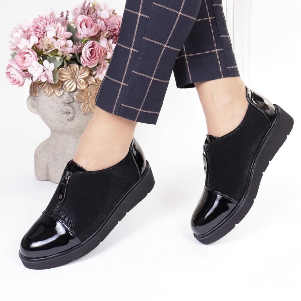 Pantofi negri piele ecologica Rosita