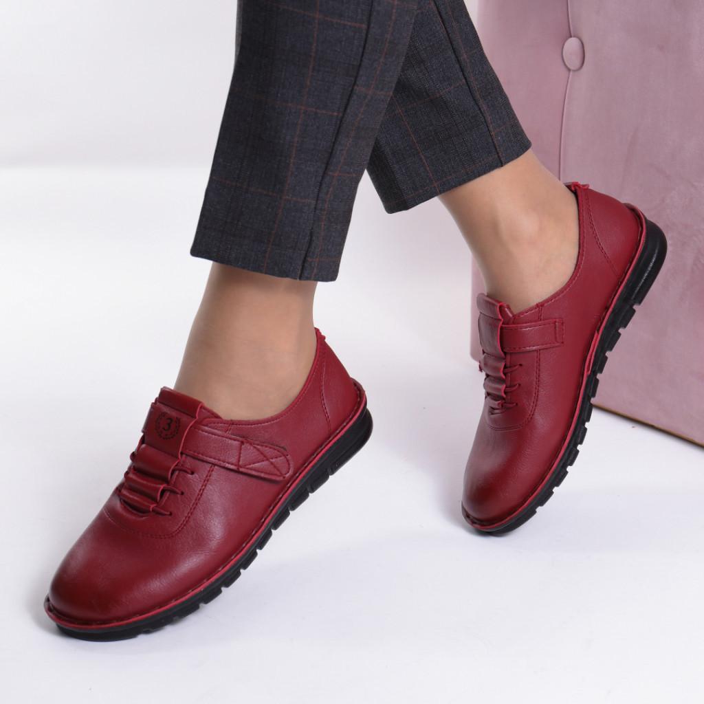 Pantofi rosi piele ecologica Diomia